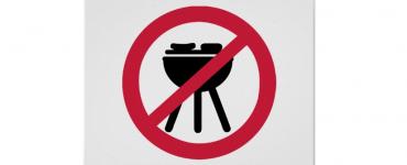 verbodsbord BBQ